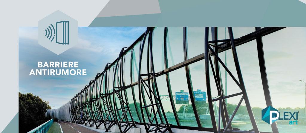 barriere antirumore plexiglas